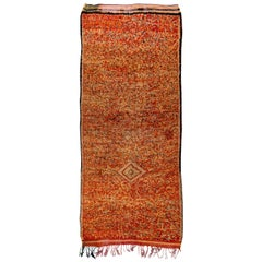 Vintage Tribal Moroccan Rug in Tweed Wool