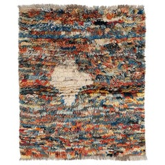 Vintage Tribal Rug with Abstract Design
