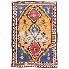 Vintage Tribal Shabby Chic Persian Gabbeh Rug. Size: 5 ft 4 in x 7 ft 7 in