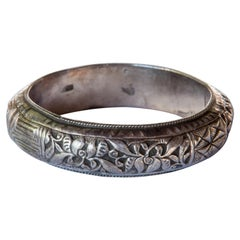 Vintage Tribal Silver Bracelet Hmong of Southwest China, Mid-20th Century