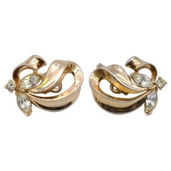 Vintage Trifari Butterfly Earrings 1950's