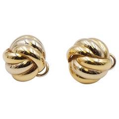 Vintage Trinity Pierced Earrings 14K Gold