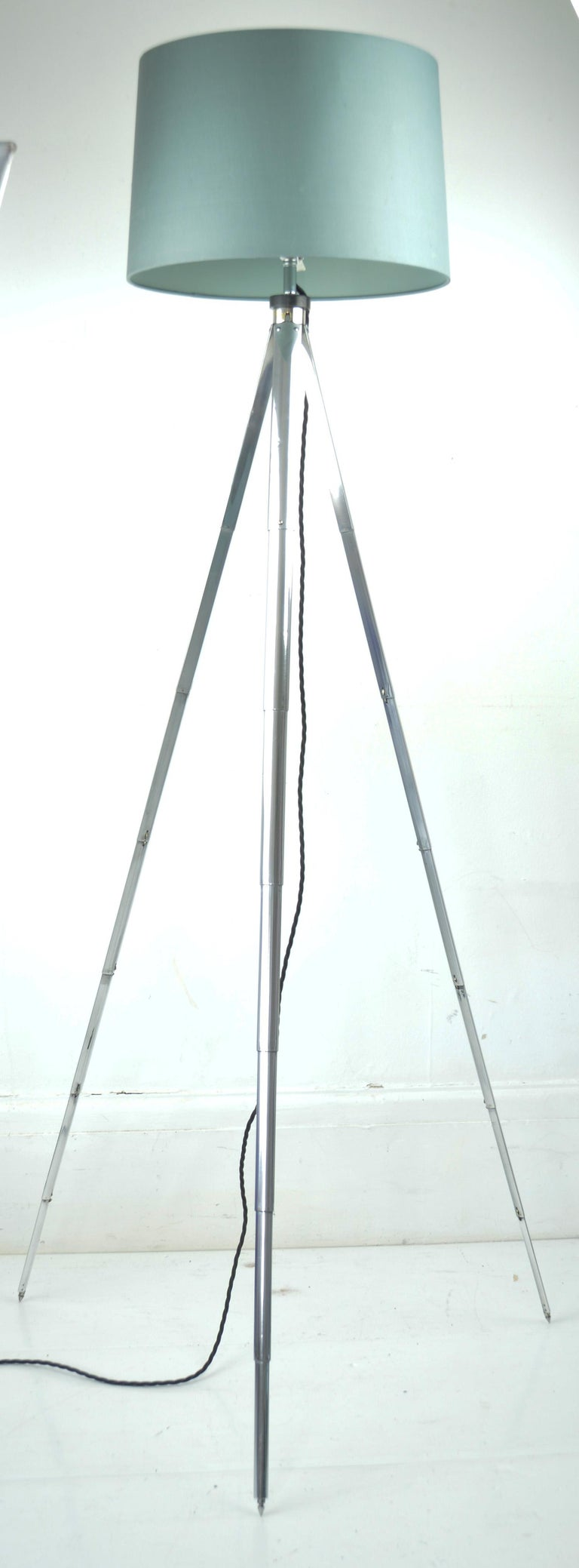 Originally a camera tripod. The tubular aluminium is telescopic.