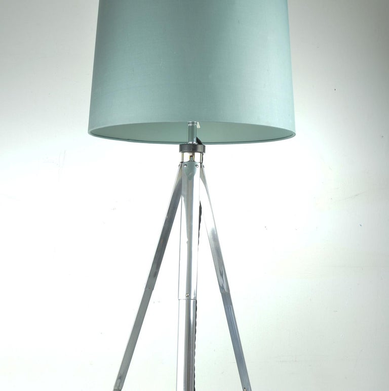 Polished Vintage Tripod Floor Light, English, Mid-20th Century For Sale