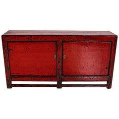 Vintage True Door Server in Brilight Red Lacquer