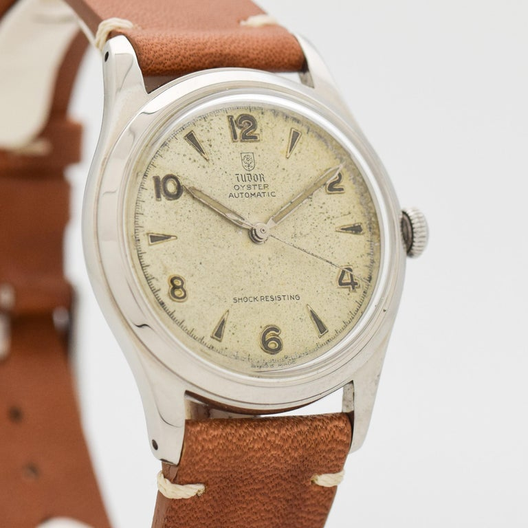 Vintage Tudor Watches >> Vintage Tudor Oyster Stainless Steel Watch 1950s