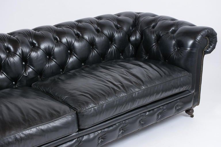 Vintage Tufted Leather Chesterfield Sofa 1