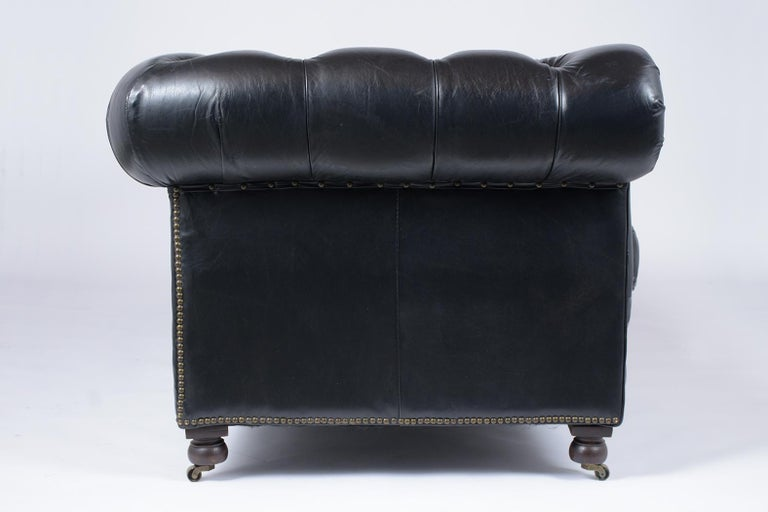 Vintage Tufted Leather Chesterfield Sofa 3