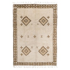 Vintage Tulu Rug, 100% Natural Undyed Wool, Custom Options Available