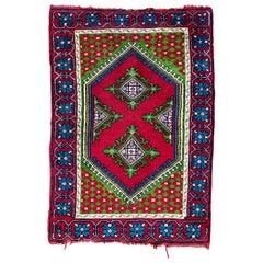 Vintage Tunisian Kairouan Rug