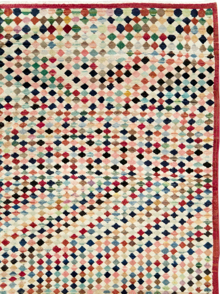 Folk Art Vintage Turkish Anatolian Carpet For Sale