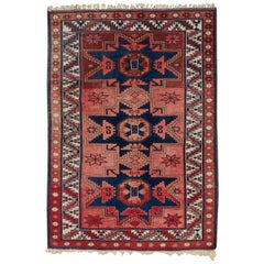 Vintage Turkish Anatolian Konya Rug