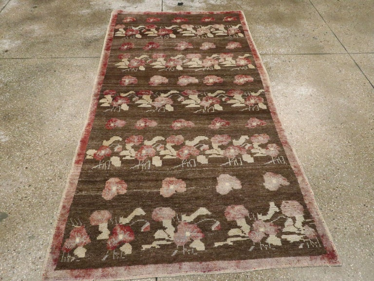 Hand-Knotted Vintage Turkish Anatolian Rug For Sale