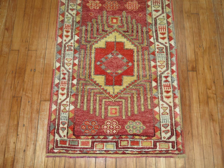 Bohemian Vintage Turkish Anatolian Runner For Sale