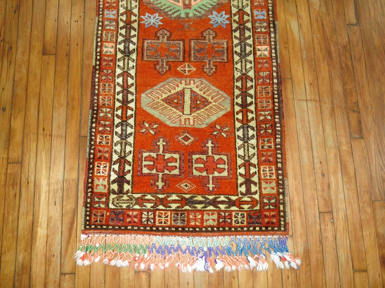 Vintage Turkish Anatolian Runner In Excellent Condition For Sale In New York, NY