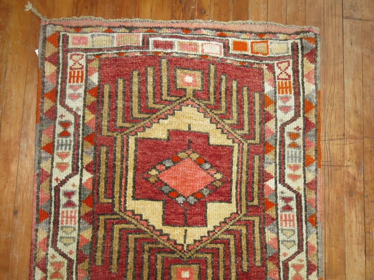 Mid-20th Century Vintage Turkish Anatolian Runner For Sale