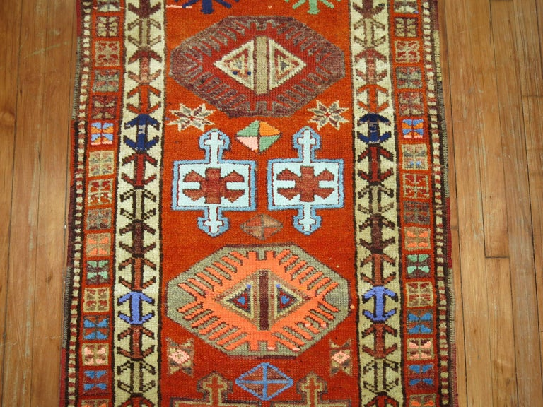 Wool Vintage Turkish Anatolian Runner For Sale