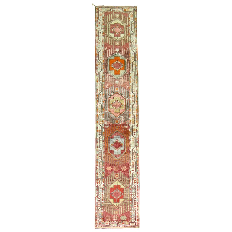 Vintage Turkish Anatolian Runner For Sale