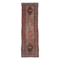 Vintage Turkish Anatolian Runner in Pale Oushak Colors