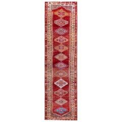 Vintage Turkish Anatolian Runner Rug, 3'1 x 11'