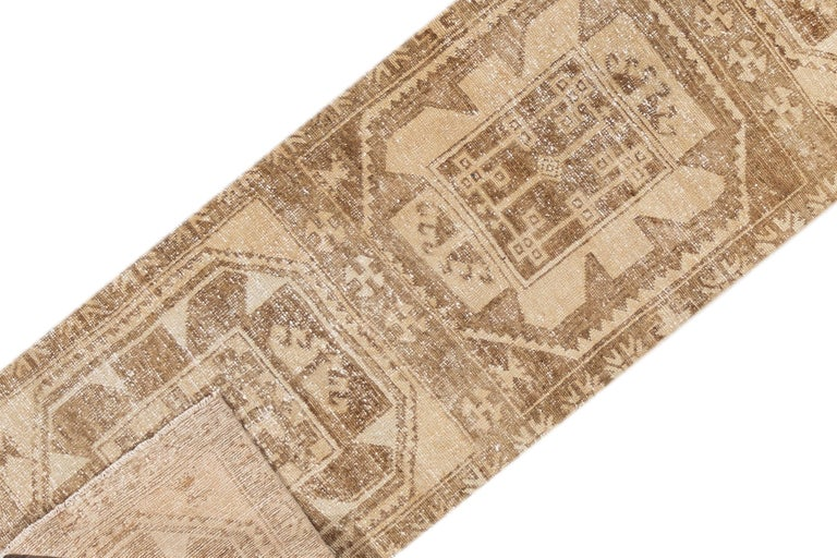 Hand-Knotted Vintage Turkish Anatolian Runner Rug For Sale