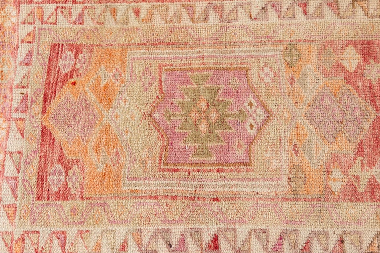 20th Century Vintage Turkish Anatolian Runner Rug For Sale