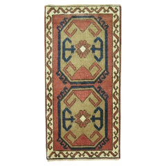 Vintage Turkish Anatolian Small Throw Rug