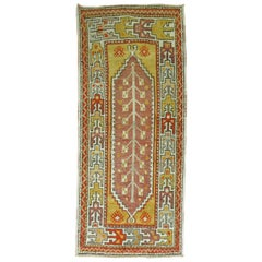 Vintage Turkish Anatolian Throw Rug