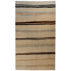 Vintage Turkish Cotton Kilim Rug