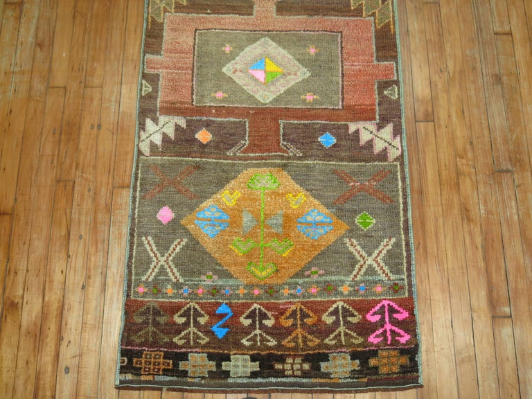 Vintage Turkish Eclectic Anatolian Runner For Sale 1