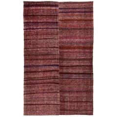 Vintage Turkish Flat-Weave Purple Kilim Rug
