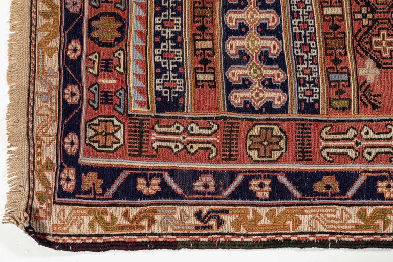 Vintage Turkish Flat-Weave RahRah Sumak Rug In Good Condition For Sale In Los Angeles, CA