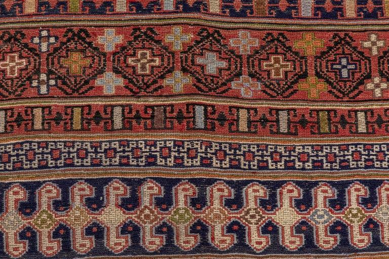Wool Vintage Turkish Flat-Weave RahRah Sumak Rug For Sale