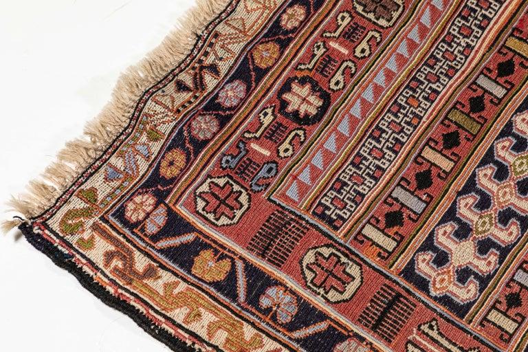 Vintage Turkish Flat-Weave RahRah Sumak Rug For Sale 1