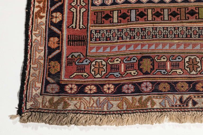 Vintage Turkish Flat-Weave RahRah Sumak Rug For Sale 2