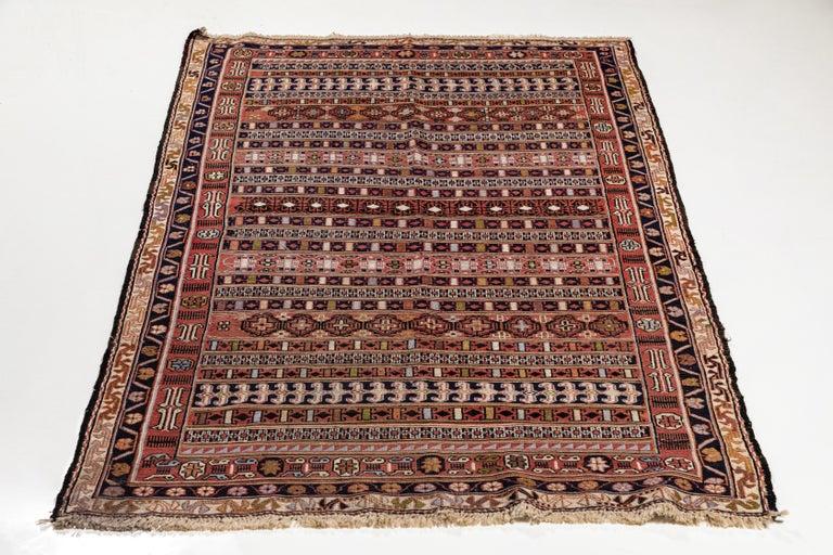 Vintage Turkish Flat-Weave RahRah Sumak Rug For Sale 3