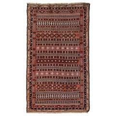 Vintage Turkish Flat-Weave RahRah Sumak Rug