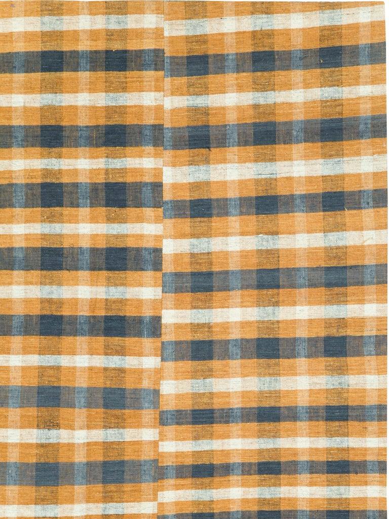 Mid-Century Modern Vintage Turkish Flat-Weave Kilim For Sale