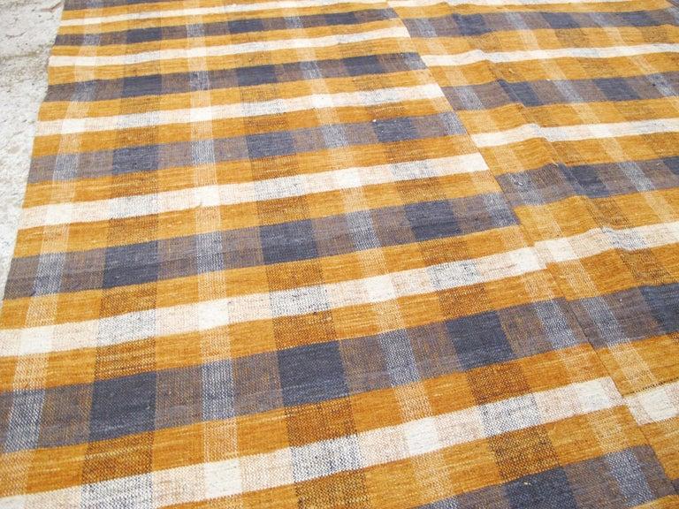 Wool Vintage Turkish Flat-Weave Kilim For Sale