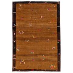 Vintage Turkish Handmade Expressionist Wool Rug