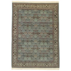 Vintage Turkish Harker Rug with Romantic Georgian Baroque Style