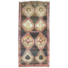 Vintage Turkish Kars Anatolian Gallery Rug