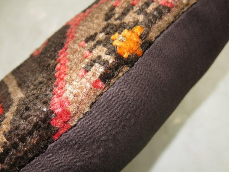 Tribal Vintage Turkish Kars Lumbar Rug Pillow For Sale