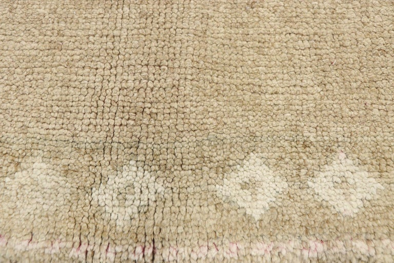 Hand-Knotted Vintage Turkish Kars Rug with Modern Farmhouse and Romantic Prairie Style For Sale