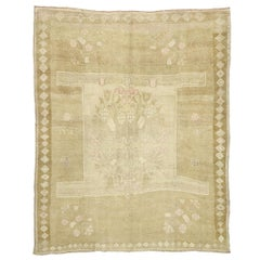 Vintage Turkish Kars Rug with Modern Farmhouse and Romantic Prairie Style