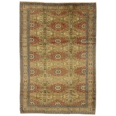 Vintage Turkish Kayseri Rug with Rustic Artisan Style