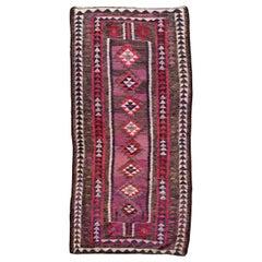 Vintage Turkish Kilim Flat Runner