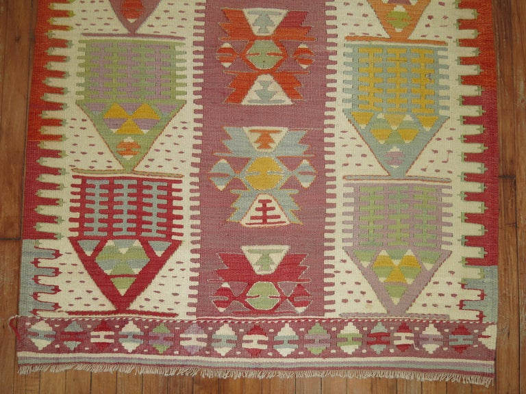 20th Century Vintage Turkish Kilim  For Sale