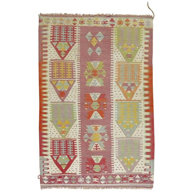 Vintage Turkish Kilim  For Sale