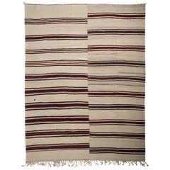 Vintage Turkish Kilim Rug, Flat-Weave